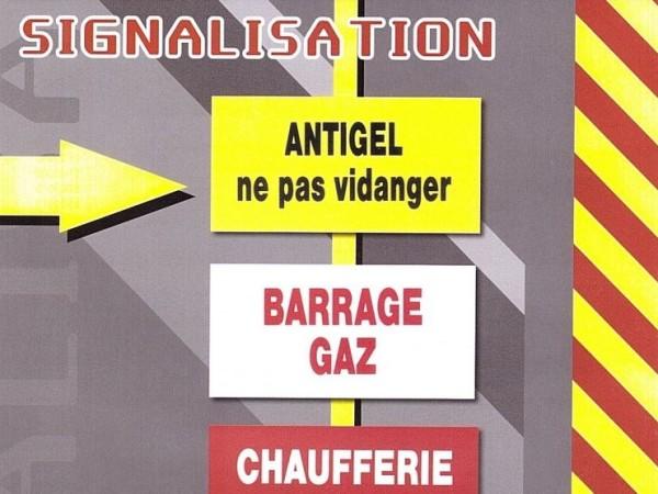 Signalisation BARRAGE GAZ - CHAUFFERIE GAZ